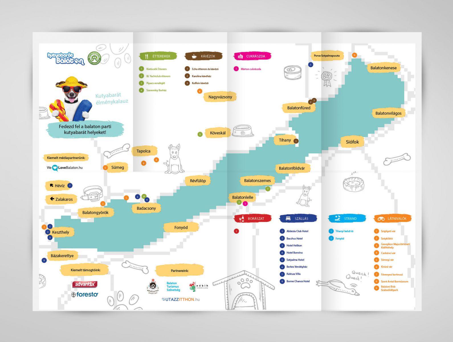 balaton térkép balatongyörök Kutyabarát Balaton Élménykalauz készül a felhőtlen kutyás  balaton térkép balatongyörök
