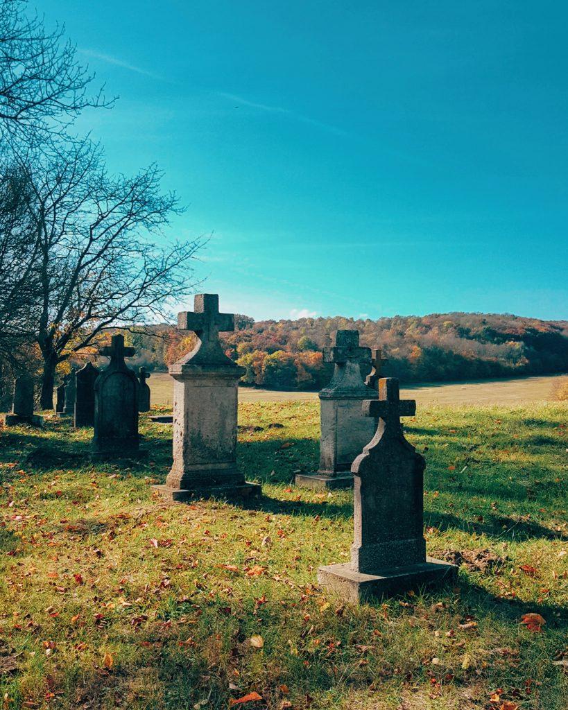 vérteskozmai temető, régi német sírok