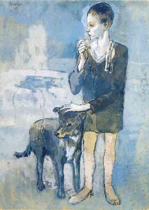 Picasso Fiú kutyával