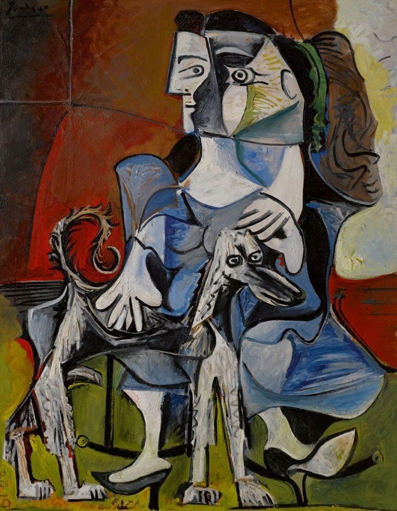 Picasso Nő kutyával