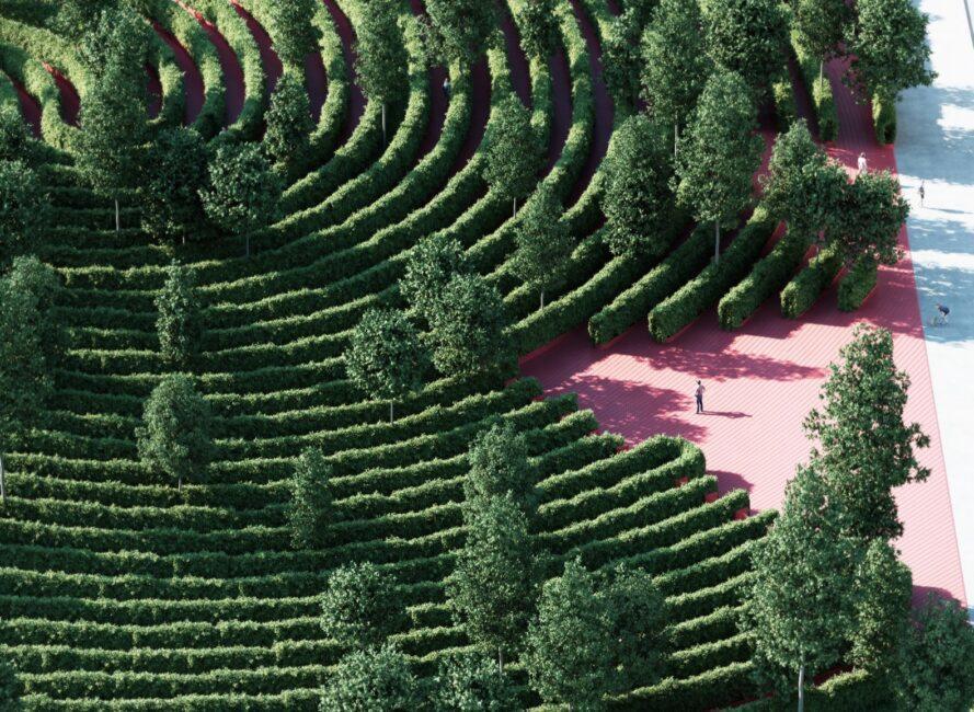 ujjlenyomat formájú park