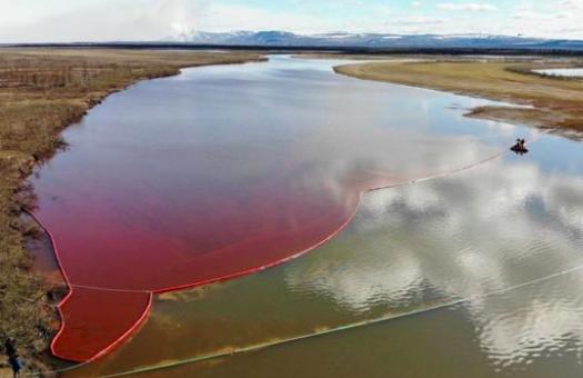 olajszennyeződés Szibériában