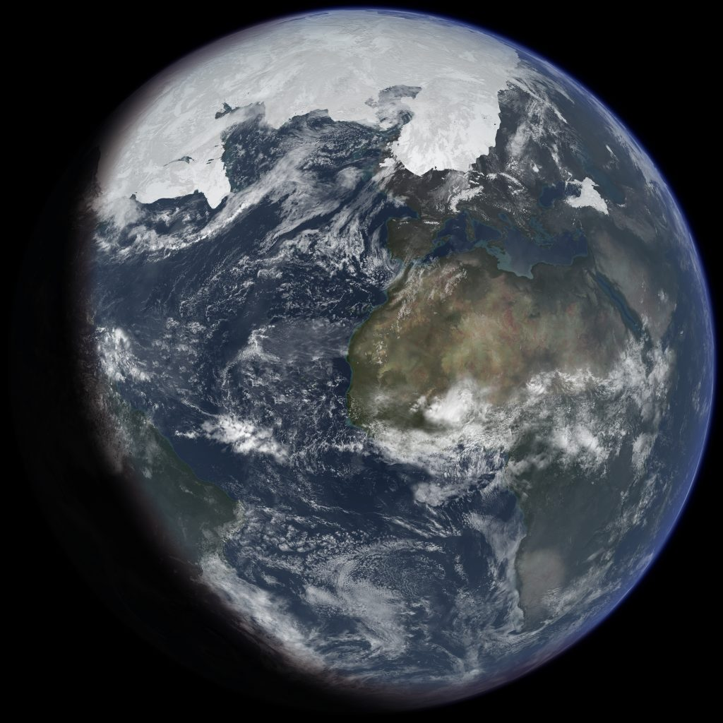 új-világ földgömb